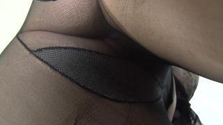 Amy With Black Pantyhose