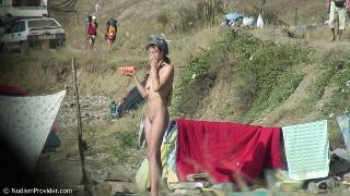 Hidden camera on a nudist beach. Gal 1