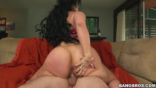 Carmen D gets a big cock deep in her butthole