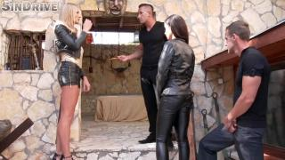 aurelly rebel & kayla green soaked in jizz & oil,