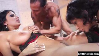 Bisexuals Anissa Kate and Brooklyn Lee, are going to share one guy in