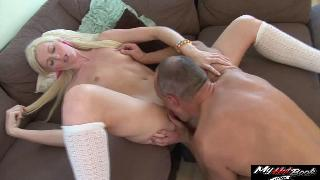 Lexi Lou fucks gets a promotion with her tight pussy